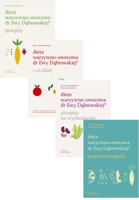 4x Dieta warzywno-owocowa dr Ewy Dąbrowskiej - DąbrowskaBeata, BorkowskaPaulina - Książki Poradniki i albumy