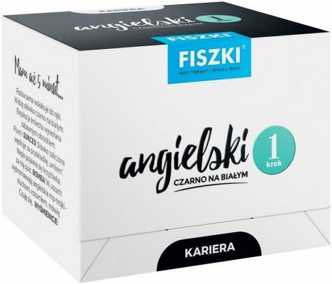 Angielski czarno na białym FISZKI - Kariera 1 - WojsykPatrycja - Książki Książki do nauki języka obcego