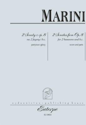 2 sonaty z op. 8, na 2 fagoty - Biagio Marini - Książki Poradniki i albumy