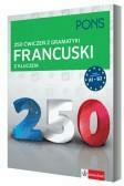 250 ćwiczeń z francuskiego. Gramatyka PONS - Opracowaniezbiorowe - Książki Książki do nauki języka obcego