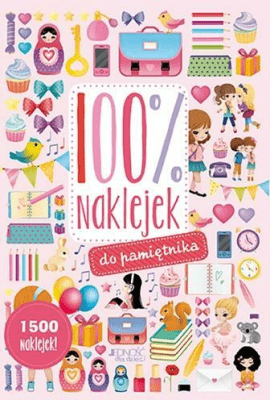 100% naklejek do pamiętnika. 1500 naklejek! - Opracowaniezbiorowe - Książki Książki dla dzieci