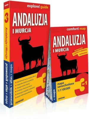 Andaluzja i Murcja 3w1: przewodnik + atlas + mapa - Jabłoński Piotr; Marchlik Anna - Książki Mapy, przewodniki, książki podróżnicze