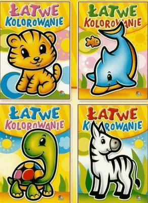(013) Łatwe kolorowanie MIX - praca zbiorowa - Książki Książki dla dzieci