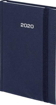 Kalendarz 2020 A4 Dzienny Cross z gumką Granat - Wokół Nas - Książki Kalendarze, gadżety i akcesoria