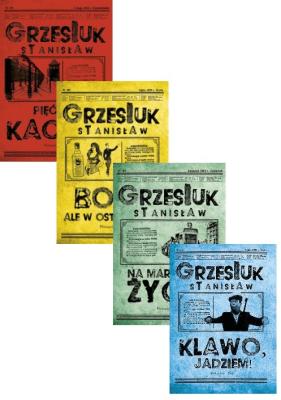 4x Stanisław Grzesiuk: Pięć lat Kacetu / Boso ale w ostrogach / Na marginesie życia / Klawo, jadziem! - GrzesiukStanisław - Książki Biografie, wspomnienia