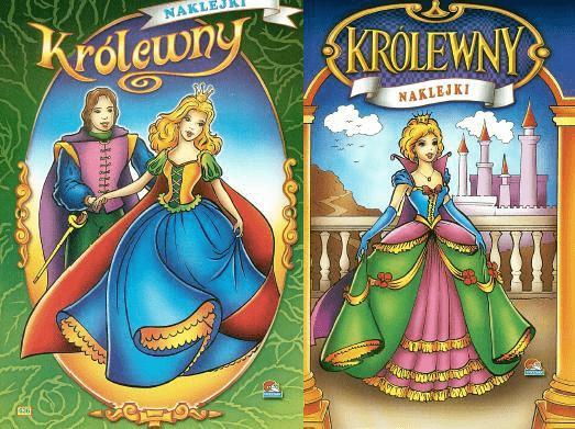 (095) Królewny. Malowanka z naklejkami MIX - praca zbiorowa - Książki Książki dla dzieci
