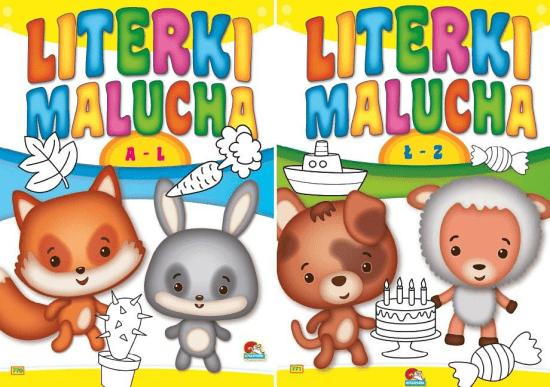 (204) Literki malucha MIX - praca zbiorowa - Książki Książki dla dzieci