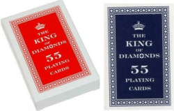 Karty 55 listków. The King of Diamonds.