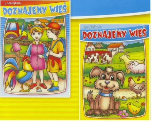 (019) Poznajemy wieś. Malowanki z naklejkami MIX - praca zbiorowa - Książki Książki naukowe i popularnonaukowe