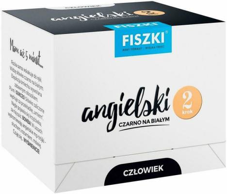 Angielski czarno na białym FISZKI - Człowiek 2 - WojsykPatrycja - Książki Książki do nauki języka obcego