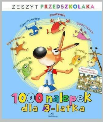 1000 nalepek dla 3-latka - Opracowaniezbiorowe - Książki Książki dla dzieci