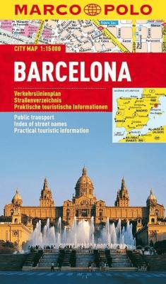 Barcelona. Plan miasta 1:15000 - Marco Polo - Książki Mapy, przewodniki, książki podróżnicze