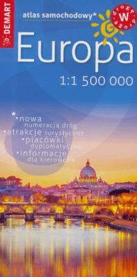 Atlas samochodowy - Europa 1: 1 500 000 DEMART - Opracowaniezbiorowe - Książki Mapy, przewodniki, książki podróżnicze