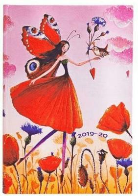 Kalendarz książkowy mini 2019-2020 Poppy Field - Paperblanks - Książki Kalendarze, gadżety i akcesoria