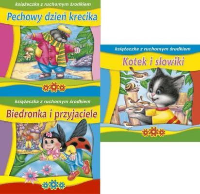 (147) Książeczka z ruchomym środkiem MIX - praca zbiorowa - Książki Książki dla dzieci