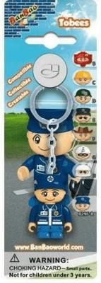 Breloczek - figurka BanBao Policjant - BanBao - Książki Kalendarze, gadżety i akcesoria