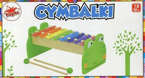Cymbałki drewniane Żabka Playme - Playme - Książki Kalendarze, gadżety i akcesoria