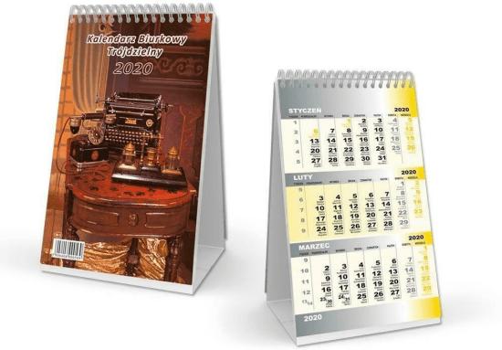 Kalendarz 2020 Biurkowy trójdzielny SB11 - Sapt - Książki Kalendarze, gadżety i akcesoria