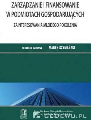 Zarządzanie i finansowanie w podmiotach gosp. T4