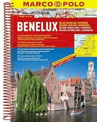 Atlas Marco Polo. Benelux 1:200 000 - praca zbiorowa - Książki Mapy, przewodniki, książki podróżnicze