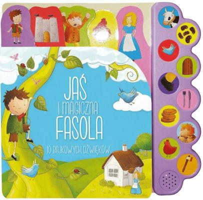 10 bajkowych dźwięków. Jaś i magiczna fasola - Opracowaniezbiorowe - Książki Książki dla dzieci