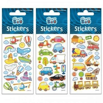 Auta. Naklejki Sticker BOO silver. - Sticker Boo - Książki Kalendarze, gadżety i akcesoria