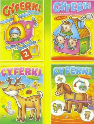 (096) Cyferki. Książeczka z naklejkami MIX - praca zbiorowa - Książki Książki dla dzieci