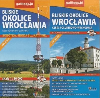 Bliskie okolice Wrocławia (komplet) - praca zbiorowa - Książki Mapy, przewodniki, książki podróżnicze