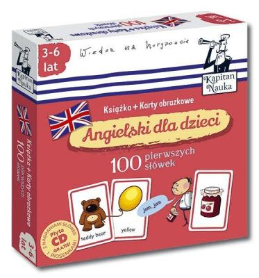 100 pierwszych słówek. Angielski dla dzieci. Książka + karty obrazkowe - Opracowaniezbiorowe - Książki Książki dla dzieci