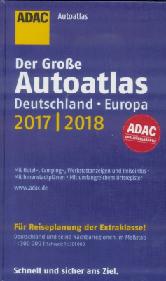 AutoAtlas ADAC. Deutschland, Europa 2017/2018 - praca zbiorowa - Książki Mapy, przewodniki, książki podróżnicze