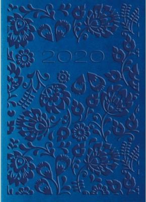 Kalendarz 2020 Tygod. A7 Vivella Niebieski 01T04 - Lucrum - Książki Kalendarze, gadżety i akcesoria