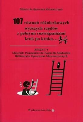 107 równań różniczkowych wyższych rzędów - RegelWiesława - Książki Literatura piękna