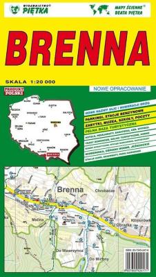 Brenna 1:20 000 plan miasta PIĘTKA - Piętka - Książki Mapy, przewodniki, książki podróżnicze