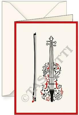 Karnet B6 + koperta Violino - Tassotti - Książki Kalendarze, gadżety i akcesoria