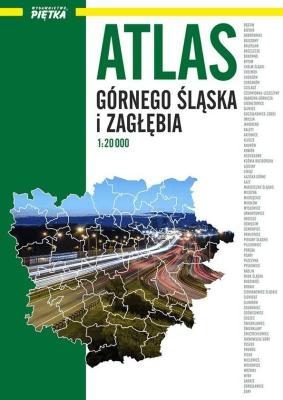 Atlas Górnego Śląska i Zagłębia. 1:20 000 - Piętka - Książki Mapy, przewodniki, książki podróżnicze