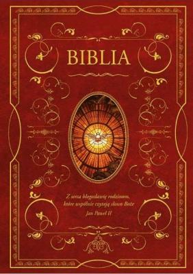 Biblia z obwolutą - wizerunek Ducha Święteg - RomaniukKazimierz - Książki Religioznawstwo, nauki teologiczne