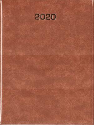 Kalendarz 2020 Tygodniowy A4 Baladek brąz ANIEW - Aniew - Książki Kalendarze, gadżety i akcesoria