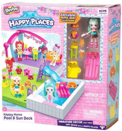Shopkins HappyPlaces. Zestaw basen z tarasem.