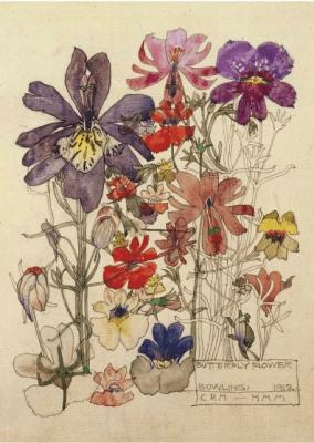 Karnet B6 z kopertą Butterfly Flower - Museums & Galleries - Książki Kalendarze, gadżety i akcesoria
