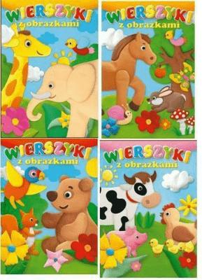 (143) Wierszyki z obrazkami MIX - praca zbiorowa - Książki Książki dla dzieci