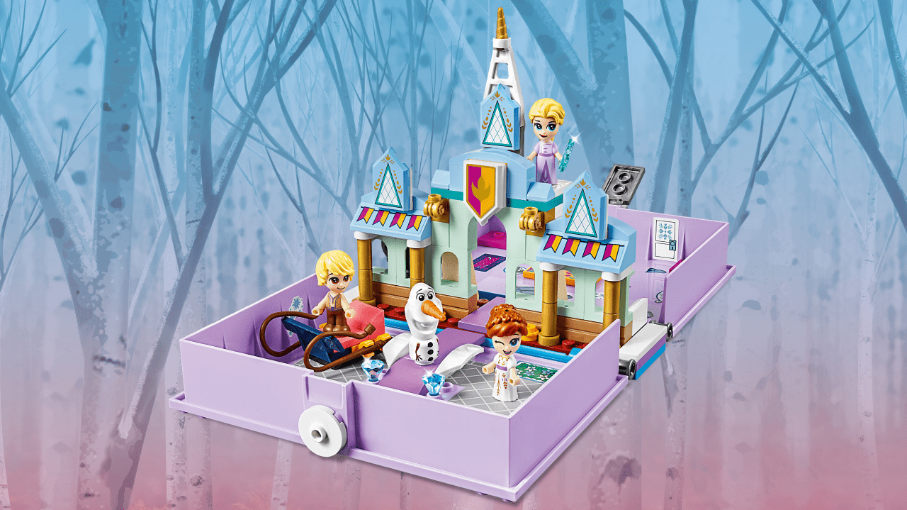 LEGO Disney. Frozen. Książka z przygodami Anny i Elsy. 43175