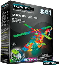 Klocki laser pegs 8 w 1 Scout Helicopter