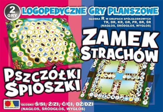 2 gry Zamek Strachów/Pszczółki Śpioszki - Komlogo - Książki Książki naukowe i popularnonaukowe
