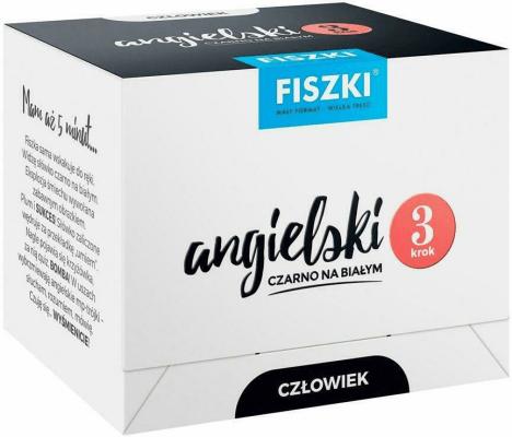 Angielski czarno na białym FISZKI - Człowiek 3 - WojsykPatrycja - Książki Książki do nauki języka obcego