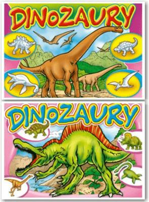 (010) Dinozaury MIX - praca zbiorowa - Książki Książki dla dzieci