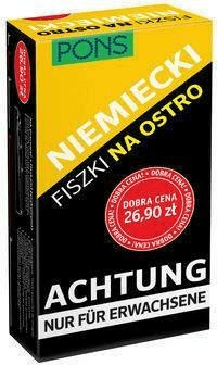 Fiszki na ostro. Niemiecki PONS - Opracowaniezbiorowe - Książki Książki obcojęzyczne