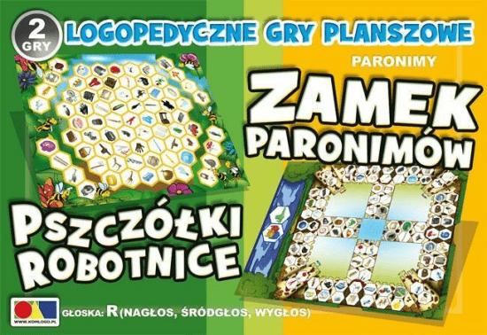 2 gry Zamek Paronimów/Pszczółki Robotnice - Komlogo - Książki Książki naukowe i popularnonaukowe