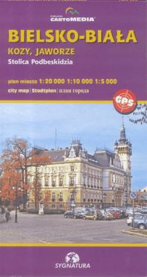 Bielsko-Biała Plan miasta - Opracowaniezbiorowe - Książki Mapy, przewodniki, książki podróżnicze