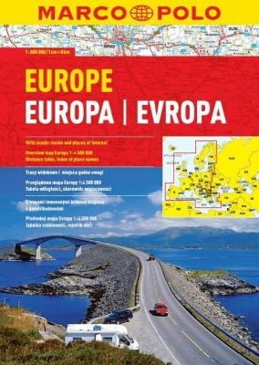 Atlas Marco Polo. Europa 1:800 000 - Marco Polo - Książki Mapy, przewodniki, książki podróżnicze