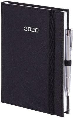 Kalendarz 2020 A4 Dzienny Cross z gumką Czarny - Wokół Nas - Książki Kalendarze, gadżety i akcesoria